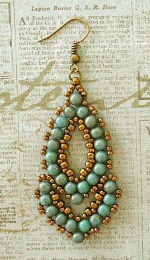 Linda's Crafty Inspirations: Esmeralda Earrings - More samples