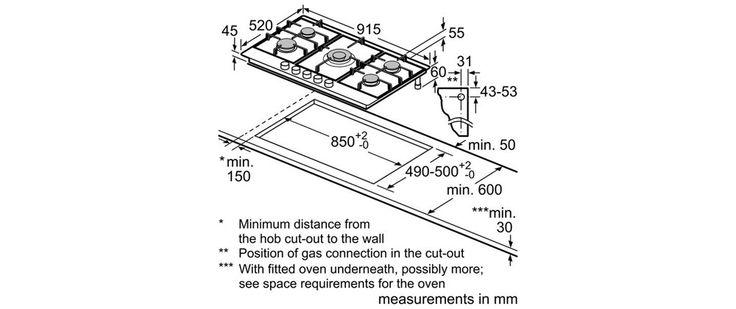 2. Bosch PCR915B91E brushed steel Classixx: 5 burner gas