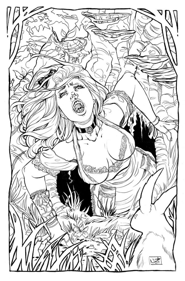 Uncategorized Erotic Coloring Pages 111 best sexy fan art coloring images on pinterest alice in wonderland 1