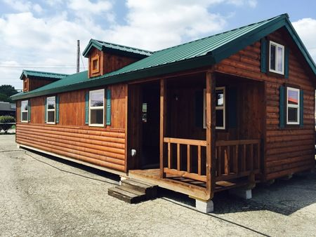 Complete Elk 14x40 Amish Modular Cabin Sale Tiny
