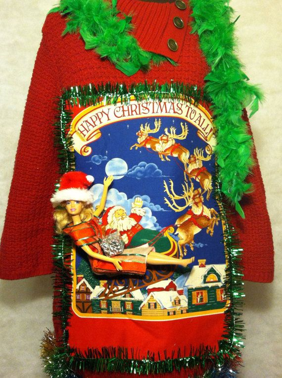 Cute Women Ugly Christmas Sweater Dress size extra by stealofadeal, $43.90