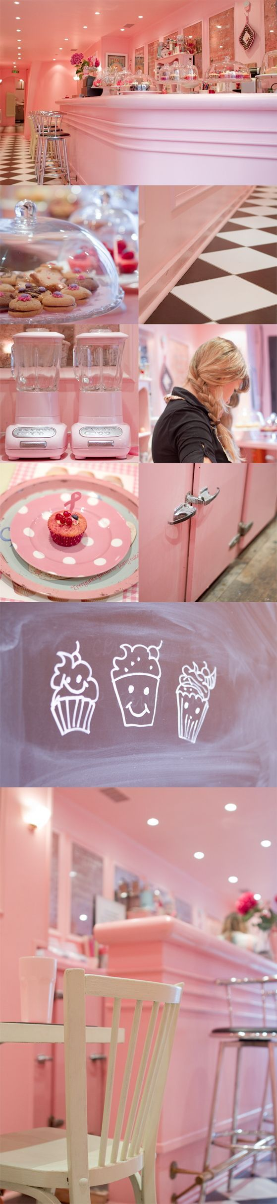 Pink cafe. This is so cute