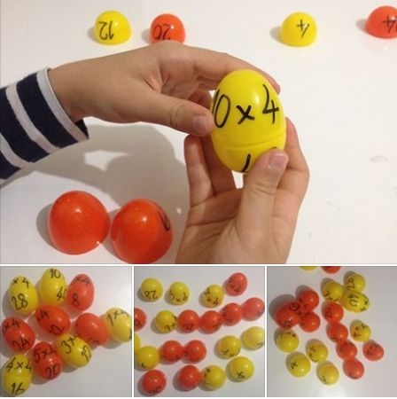 multiplication with plastic eggs-Educational game