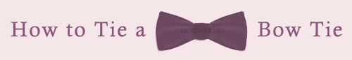 How To Tie A Bow Tie. (Bow Ties are cool) - Imgur