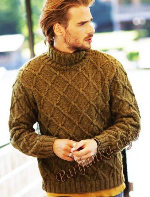 Пуловер (м) 03*600 Phildar №4906