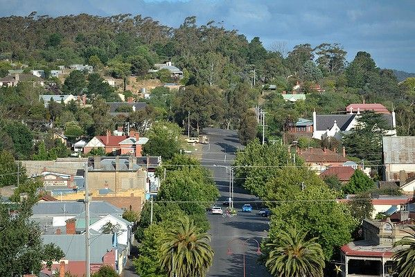 Castlemaine as seen from The Old Gaol.
