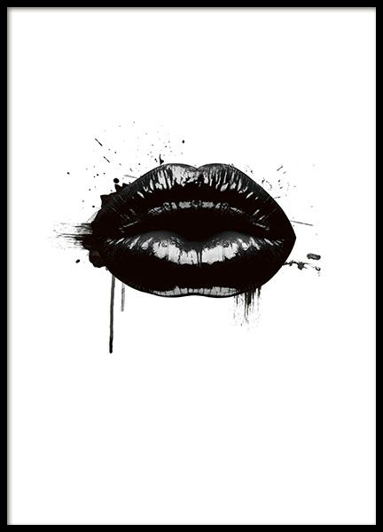 Fashion Lips, poster i gruppen Posters och prints hos Desenio AB (8490)