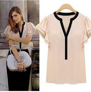 0150-2015-Women-Blouses-Frill-Sleeve-Chiffon-Short-Sleeve-font-b-Shirts-b-font-font-b.jpg (304×308)