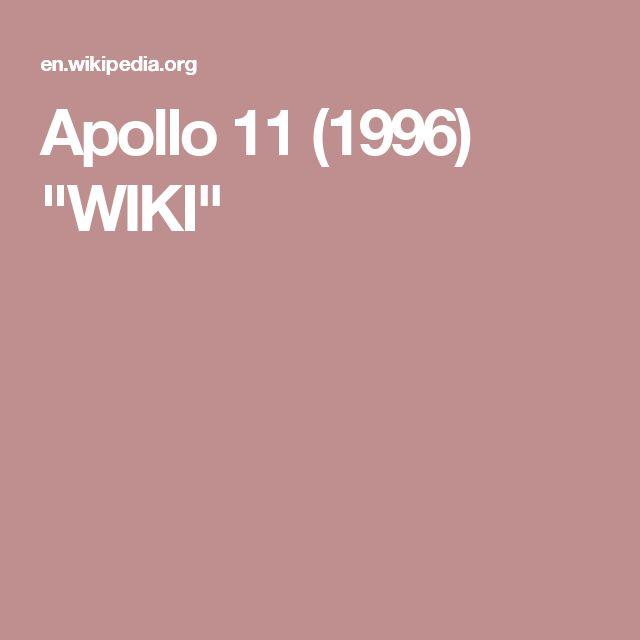 """Apollo 11 (1996) """"WIKI"""""""