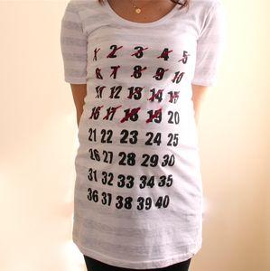 Countdown shirt...cute!
