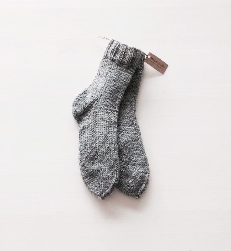 Mens wool socks, warm winter socks for him, grey wool socks, boot socks, reading socks. by bluegreystudio on Etsy