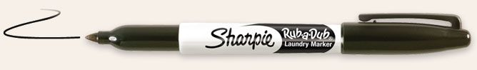 Sharpie Rub-a-Dub Laundry Marker- blog entry about how to preserve sharpie on clothing