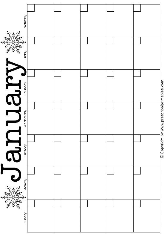 free printable calendar pages to color/decorate for every month. You add in the numbers
