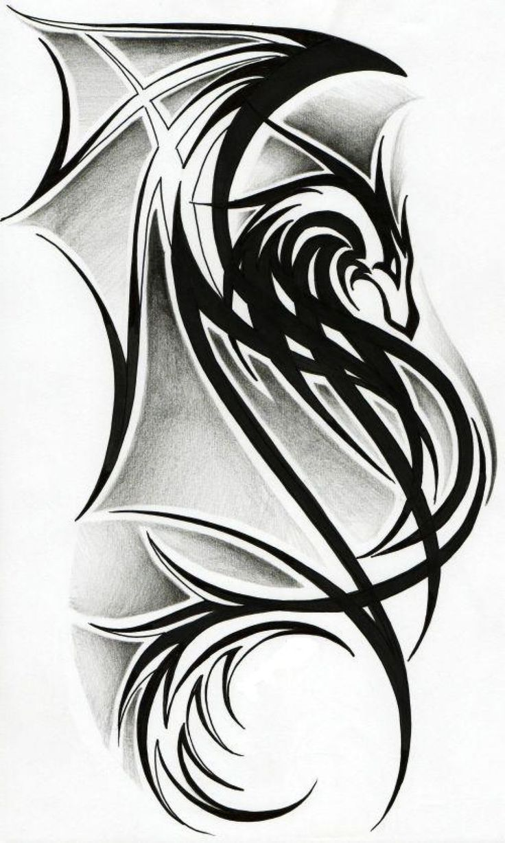 Tribal Dragon Tattoo Designs | Best Tattoo Art Design