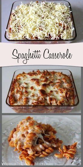 Spaghetti Casserole -