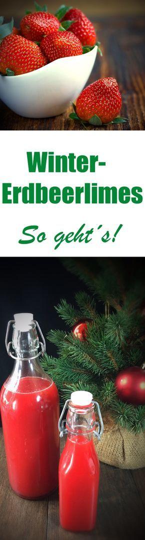 Die Winter-Edition von Erdbeerlimes! Selbst gemachter Erdbeerlimes mit weihnachtlichem Spekulatius Lebkuchen Geschmack, aus dem Thermomix