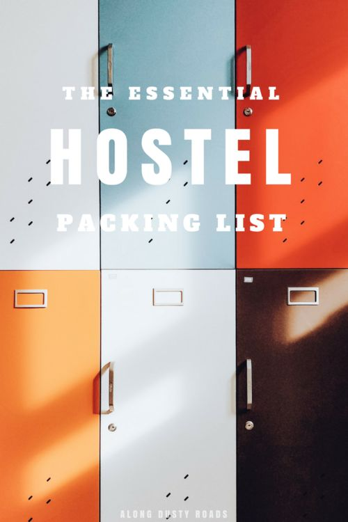 A few of the essentials that will make a hostel stay that little bit better!   Backpacking   Hostel Packing List   Hostels   What to Pack
