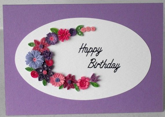 Открытка на день рождения с пастельными