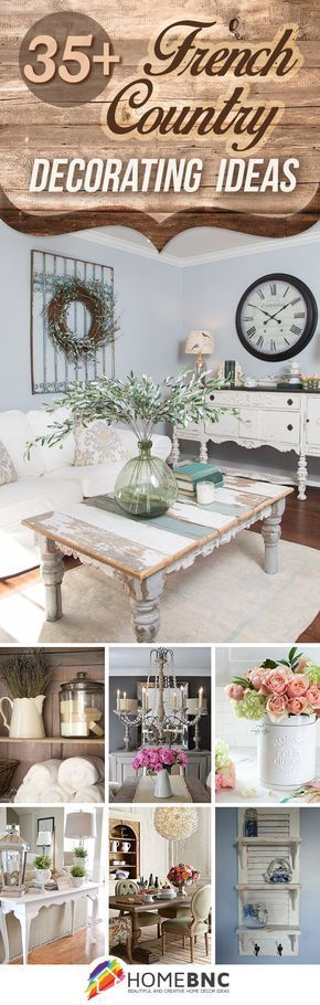 French Country Design Ideas for all homes that are romantic home decor lovers.