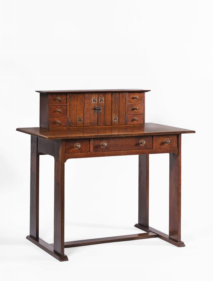 Inlaid desk - Gustav Stickley