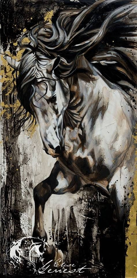 Horse Painting Elise Genest Arts & Chevaux, France