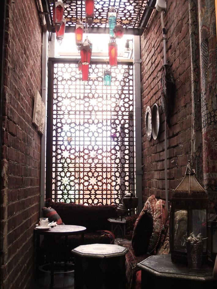 Bohemian and fabulously ethnic interior - Boucla cafe Subiaco