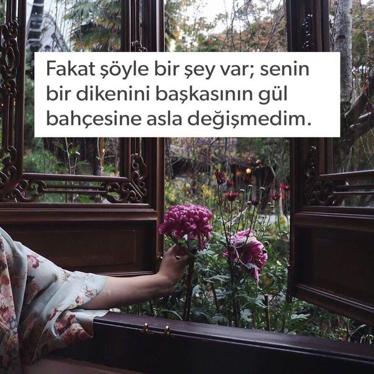 Fakat şöyle bir şey var; senin bir dikenini başkasının gül bahçesine asla değişmedim. (Kaynak: Instagram - kitapklubu) #sözler #anlamlısözler #güzelsözler #manalısözler #özlüsözler #alıntı #alıntılar #alıntıdır #alıntısözler #şiir #edebiyat