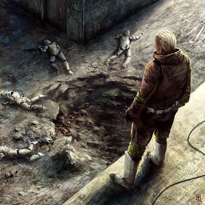 ArtStation - Star Wars CCG - Blast Radius, Michel Koch