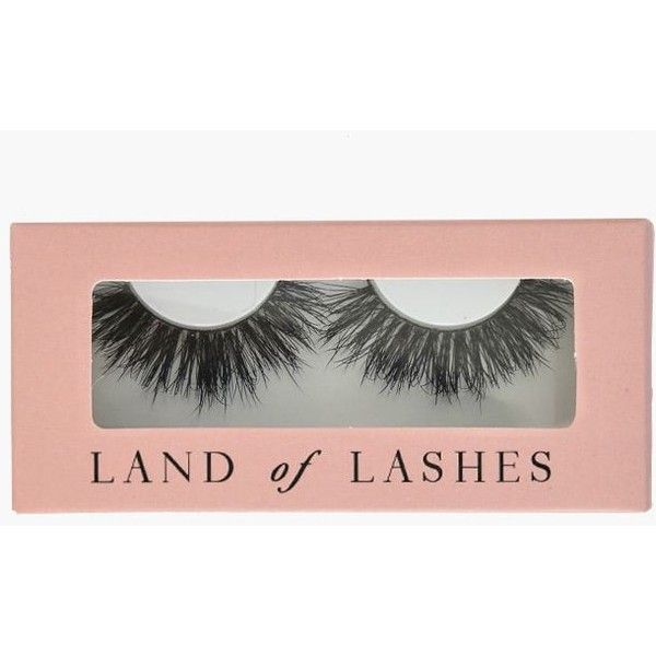 Land Of Lashes Hollywood Lash ($12) ❤ liked on Polyvore featuring beauty products, makeup, eye makeup, false eyelashes and black
