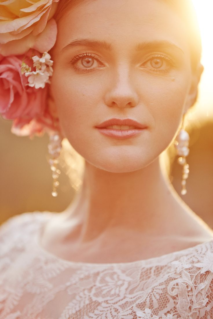 golden hour bridal makeup inspiration | BHLDN Weddings 2015 Spring Collection
