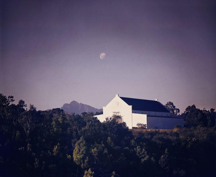 Moon over iconic Formosa peak and Bramon Cellar