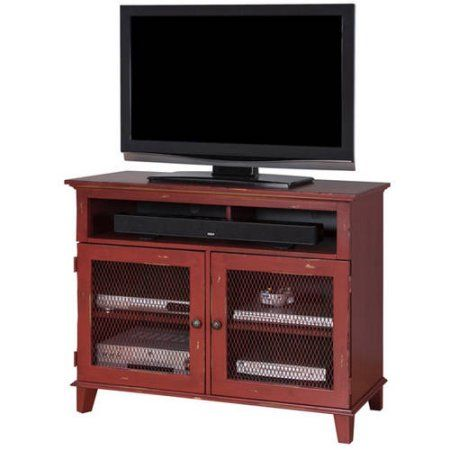 """Martin Furniture Sandhill 42 inch TV Stand For Flat Screen TVs up to 40"""", Red"""