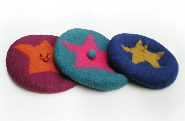 Shine Like a Star! berets by Issa Felt