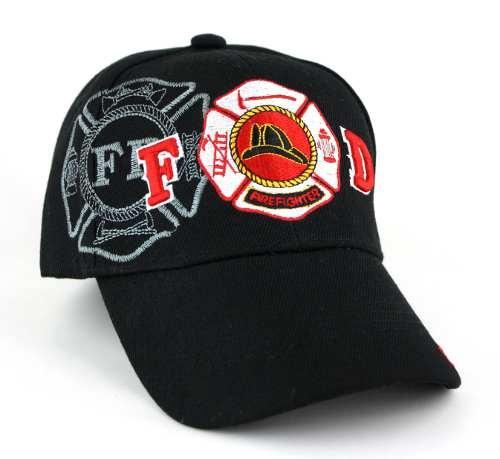 Fire Dept. Shadow Maltese Cross Caps