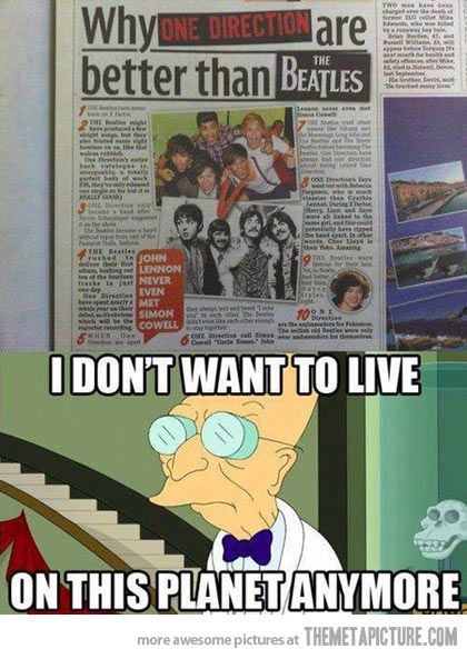 I'm not hating and if there is an argument I will delete this pin. But it's The Beatles, 1D is not better.
