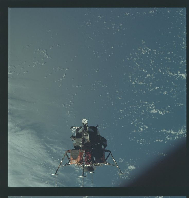 Apollo 9 Hasselblad image from film magazine 21/B - Earth orbit, LM test flight