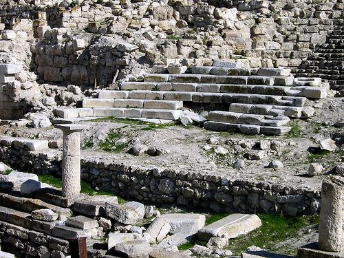 Pessinus, Phrygia, Turkey. Phrygians came from the Danube area, migrated into Thrace and then settled around Troy and soon after spread over western Anatolia. Following the destruction of the Hittite Empire by the Aegean migrations, many small kingdoms arose. Two powerful entities emerged, the Phrygian Kingdom comprised a confederation of peoples, which ruled from the central Anatolian plateau, and the Urartian Kingdom. Both opposed the Assyrians. The Phrygians were absorbed by the Lydians.