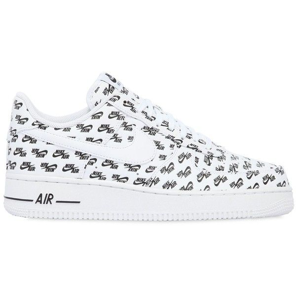 Nike Men Air Force 1 '07 Logo Leather Sneakers ($125) ❤ liked on Polyvore featuring men's fashion, men's shoes, men's sneakers, shoes, white, mens sneakers, mens suede shoes, nike mens shoes, mens white suede shoes and mens rubber sole shoes