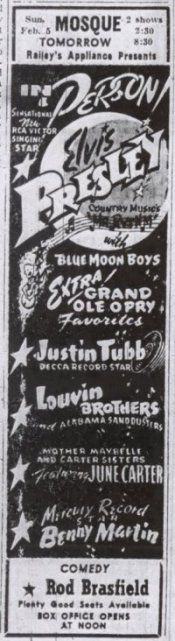 february 5 1956 The Mosque Theater - Richmond, VA