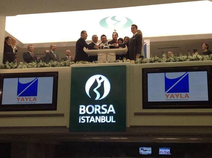 Borsa İstanbul'da gong Yayla Enerji için çalıyor.