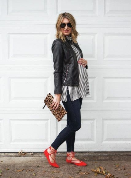 Try lace-up ballet flats - Fall Maternity Looks You'll Love - Photos
