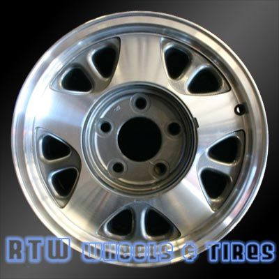 """GMC Safari wheels for sale 1993-2002. 15"""" Machined Charcoal rims 5025 - http://www.rtwwheels.com/store/?post_type=product&p=33012"""