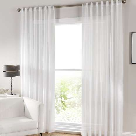 Grove White Voile Panel | Dunelm