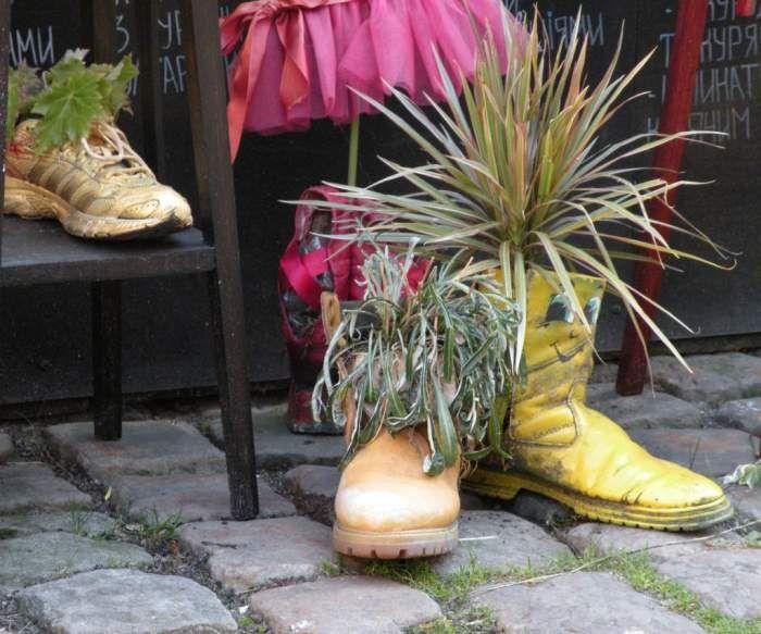 Kwietnik z butów