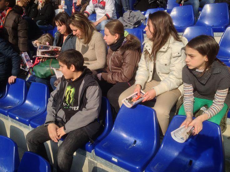 Ospiti allo stadio a vedere il Genoa