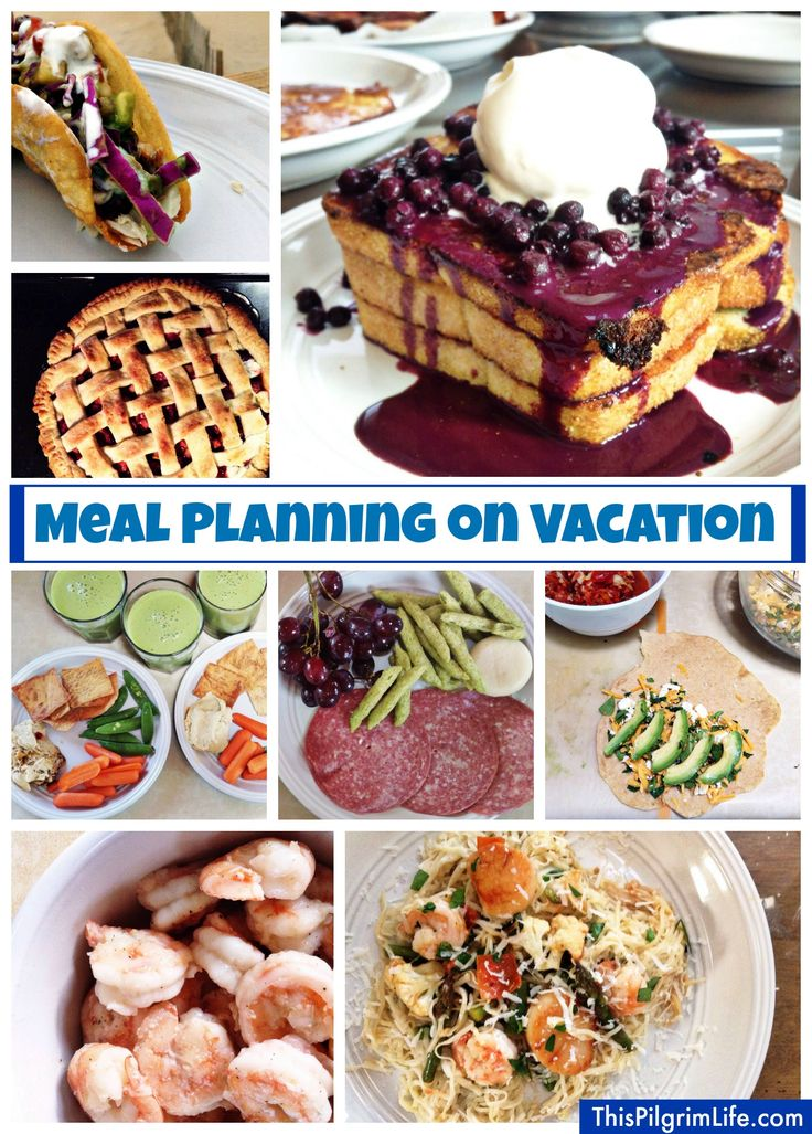Meal planning while on vacation-- how to plan and prepare to eat well when you're out of town.