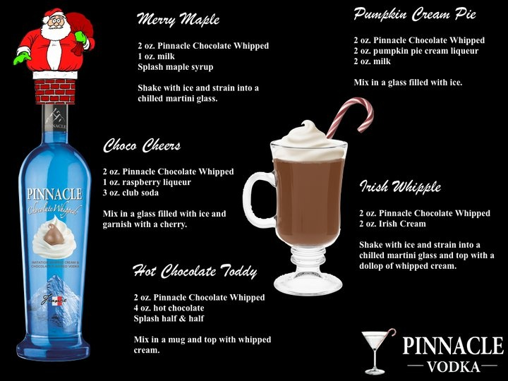 chocolate pinnacle whipped vodka some very merry. Black Bedroom Furniture Sets. Home Design Ideas