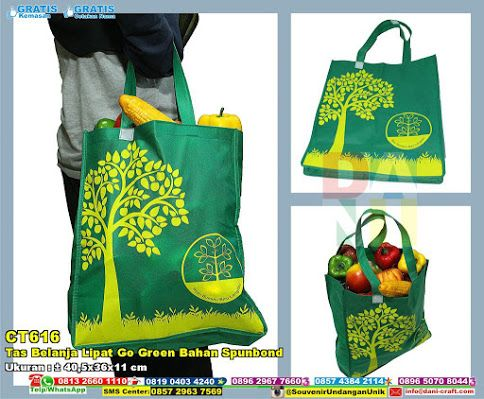 Tas Belanja Lipat Go Green Bahan Spunbond Hub: 0895-2604-5767 (Telp/WA)tas belanja,tas bermotif pohon,tas warna hijau,tas keren,tas unik,tas bagus,tas cantik,tas murah #taswarnahijau #tasbelanja #tascantik #tasunik #taskeren #tasbermotifpohon #tasbagus #souvenir #souvenirPernikahan