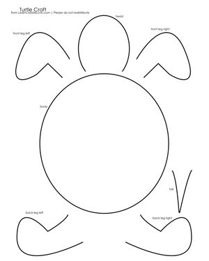 { Turtle Craft with Printable }