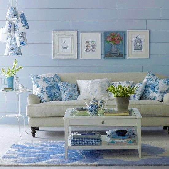 Nice Blue U0026 White   What A Serene And Light, Relaxing Area. Part 24